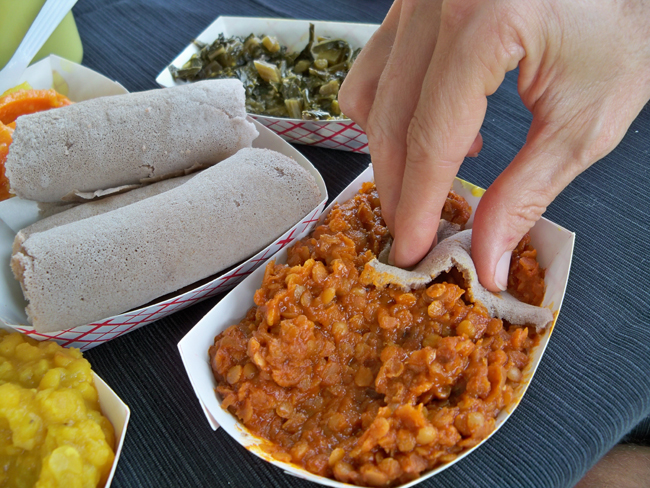 Amazing Ethiopian Food From Queen of Sheba Restaurant