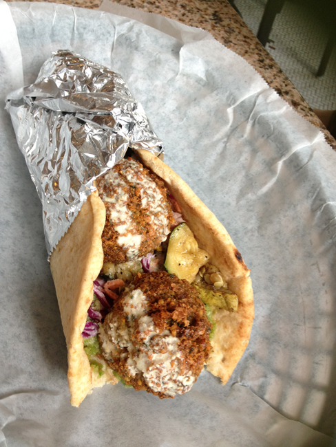 Mooney's Falafel Wrap