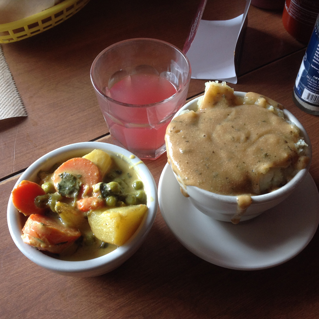 Veggie of the Day with Smashed Potatoes and Gravy