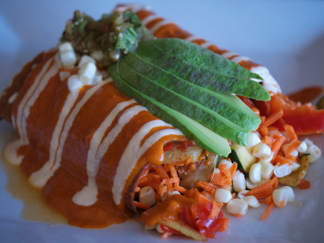 Mole Enchiladas 118 Degrees   Costa Mesas Raw Dining Option at The Camp!