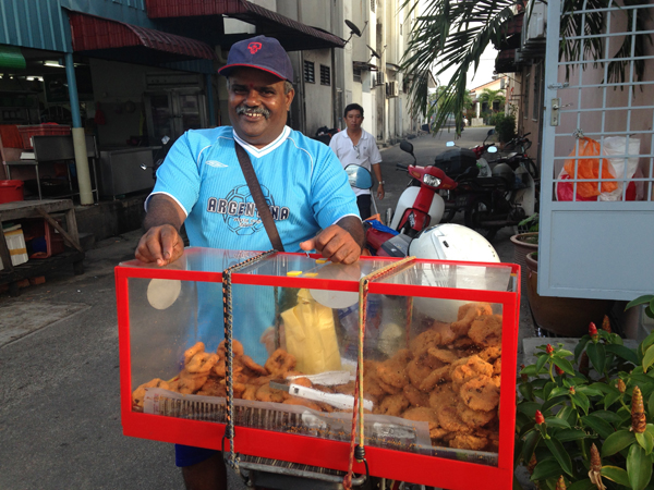 9 VFQ Mr. Kumar Selling Vadai Vegan Food Quest   Veggin Out and About In Southeast Asia!
