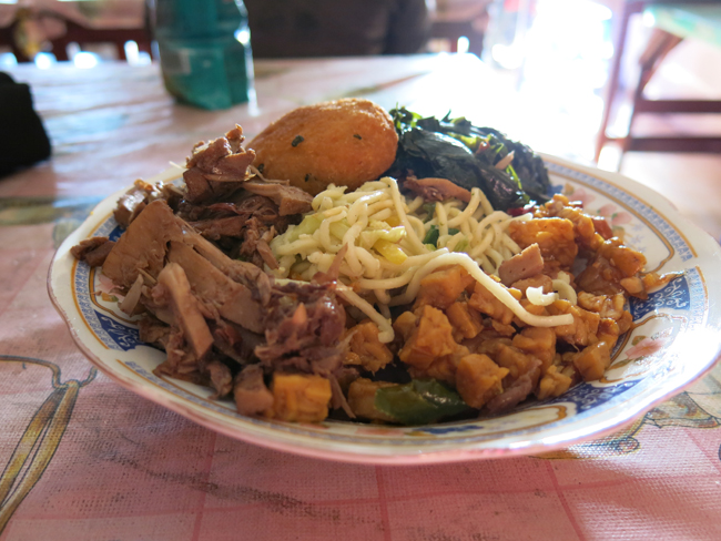 Picture 5 nasi campur with gudeg Vegan Food Quest   Veggin Out and About In Southeast Asia!