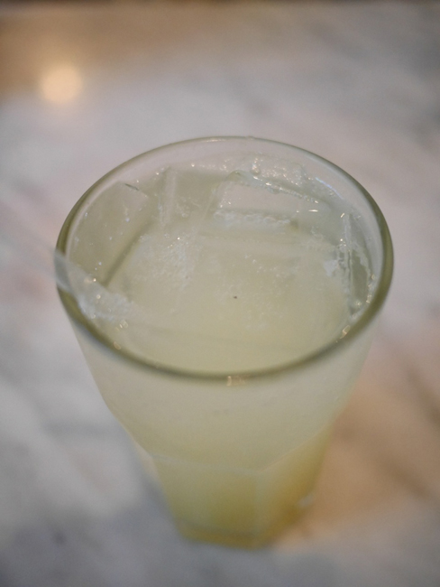 House made ginger lemonade on ice