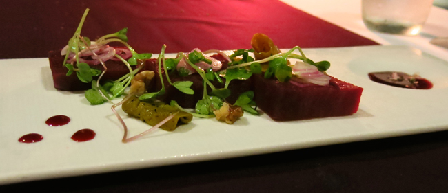 VFQ8 Beetroot dish at An Lam Villas Vegan Food Quest   Veggin Out and About In Southeast Asia!