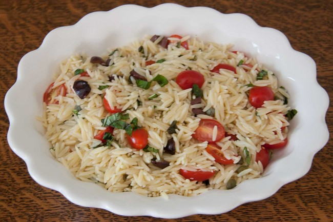 Italian Orzo With Cherry Tomatoes And Fresh Basil