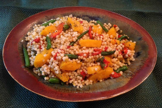 Pearled Couscous With Butternut Squash, Haricots Vert And Sage