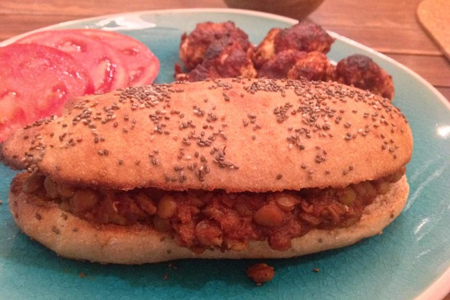 Lentil And Cauliflower Sloppy Joes