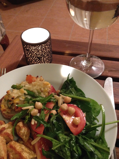Home cooked vegan dinner2 The Super Charged Athlete: Finding My Vegan Feet