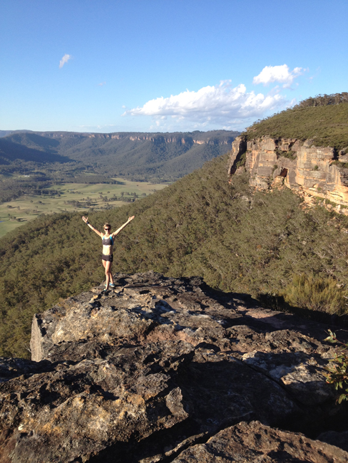 On top of Mt Blackheath near my current home2 The Super Charged Athlete: Finding My Vegan Feet