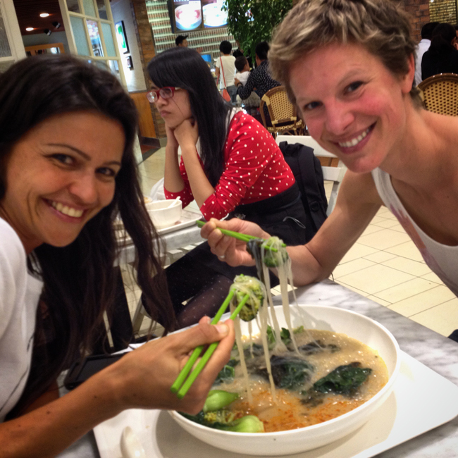 Vegan food with friends2 The Super Charged Athlete: Finding My Vegan Feet