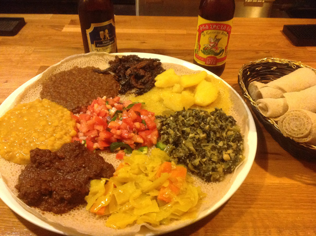 Ethiopic Veg Combo Ethiopic In Washington D.C.    Ethiopian Food Doesnt Get Better Than This!