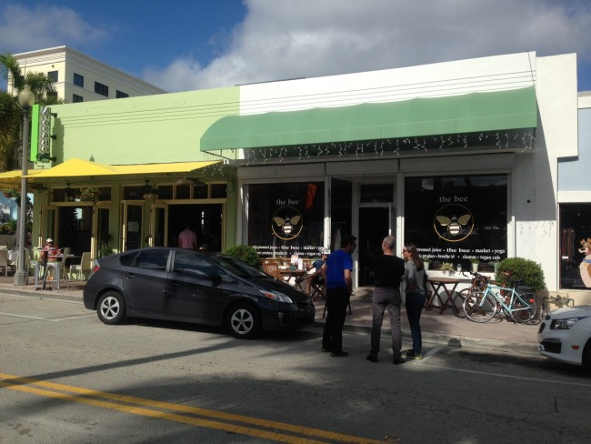 Avocado Grill (to the left) in downtown West Palm Beach on famous Clematis Street!