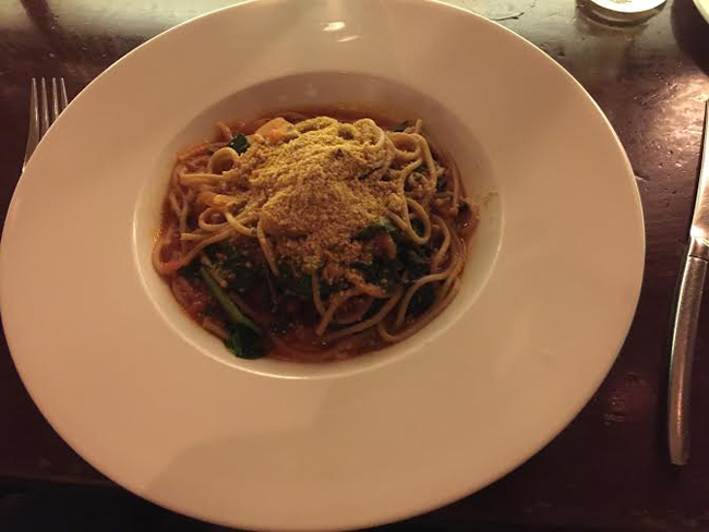 Spaghetti Spotlighting Candle 79    Plant Based Dining At Its Finest!