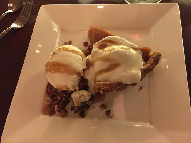 Sweet Potato Pie Spotlighting Candle 79    Plant Based Dining At Its Finest!