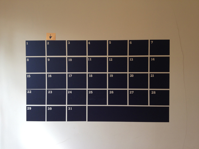 Kate Strong: Chalkboard Calendar