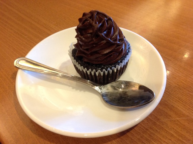 Chocolate Ganache Cupcake, offered seasonally.