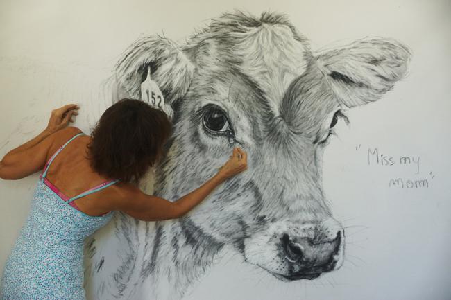 Chantal Cow Drawing