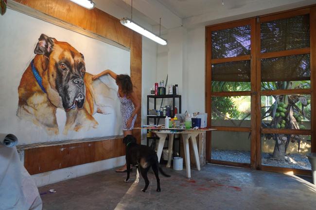 Chantal Dog Painting