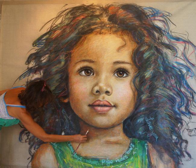 Chantal Girl Painting 2