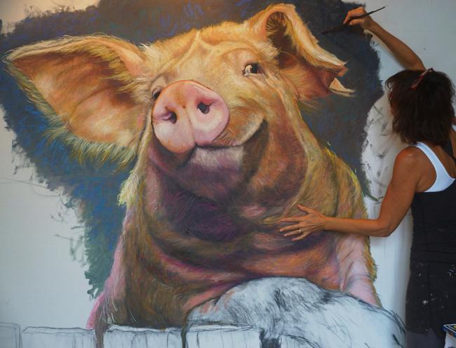 Chantal Pig Painting