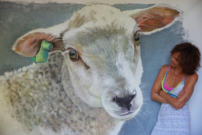 Chantal Sheep Painting