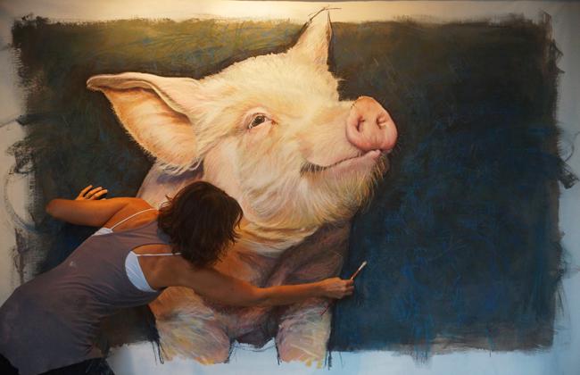Chantel Pig Painting