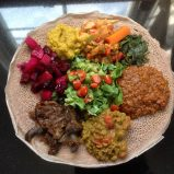 Danielle Teaches Hands-On Ethiopian Class At Plant Based Cooking Summit at Lake Lure In October